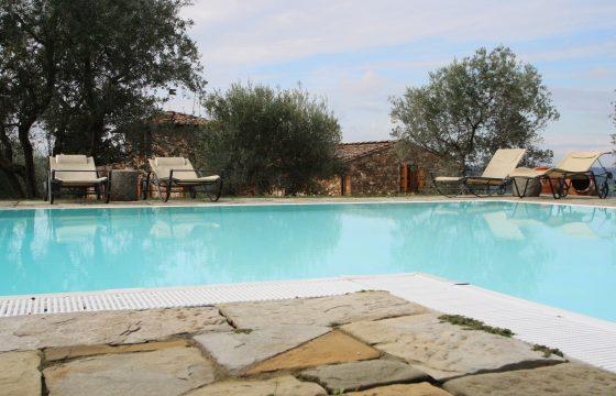 Villa Il Poggio, Castello di Bibbione: bekvem og luftig pool-villa i Chianti