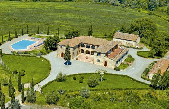 Privat villa ved Trequanda mellem Siena, Montepulciano og Montalcino