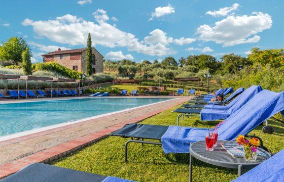 Poggio Cennina, vingård ved Bucine, Arezzo – hjemmebane for Paolo Rossi
