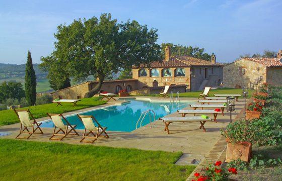 Pienza, Val d'Orcia – stor feriebolig med eksklusiv udsigt