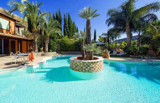 Luksusvilla med eksklusiv pool og jacuzzi v. Argiento og Scala dei Turchi, Middelhavet