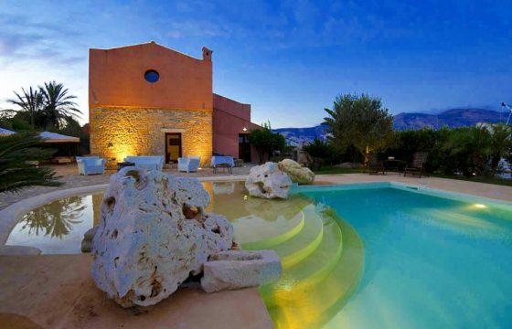 Sicilien, Trapani: stor, moderne luksusvilla ved Erice
