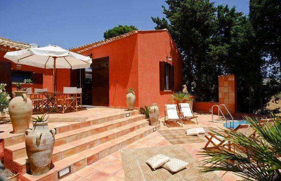 Mindre villa med air condition i baglandet til Trapani og Erice