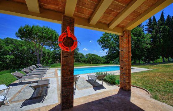 Toscana – tæt på Lazio og Umbrien: luksusvilla m. anneks