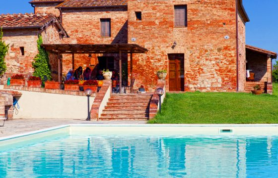 Buonconvento, Siena: privat villa med pool og aircondition i Val d'Orcia