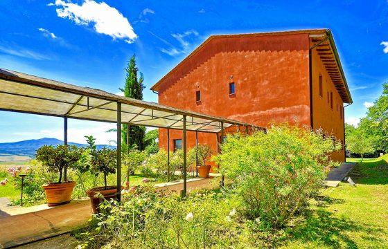 Toscana, Val d'Orcia: stor, moderne villa med pool ved Sarteano