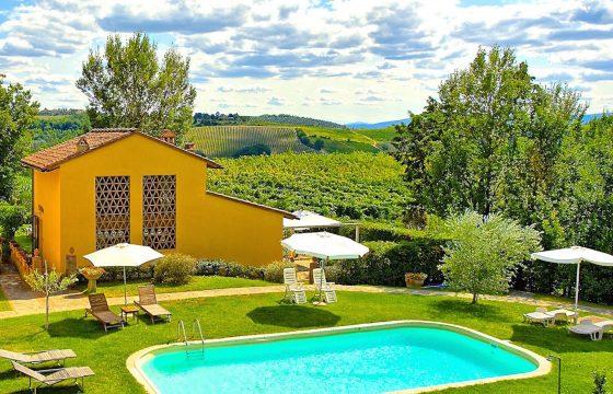Privat feriebolig v. Montespertoli, Firenze med delt pool
