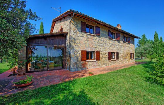 Pool og aircondition: privat villa i Val d' Orcia ved Cetona og Sarteano