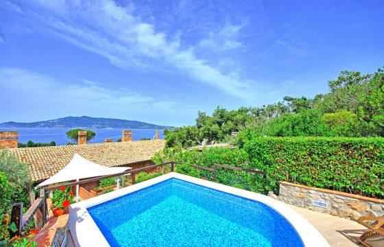 Toscana og Middelhavet: lille feriebolig m. pool syd for Grosseto