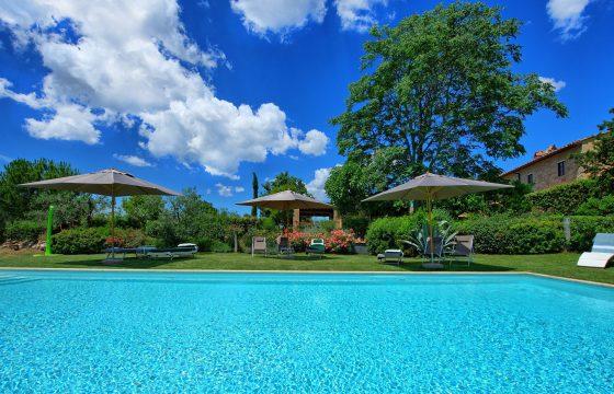 Lækker og moderne villa med aircondition og pool i Chianti