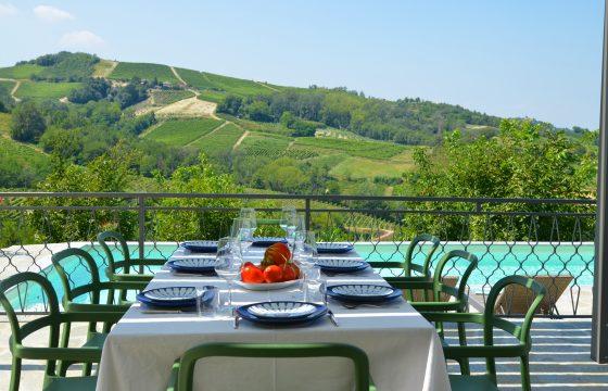 Privat villa m. saltvandspool mellem Nizza Monferrato og Canelli